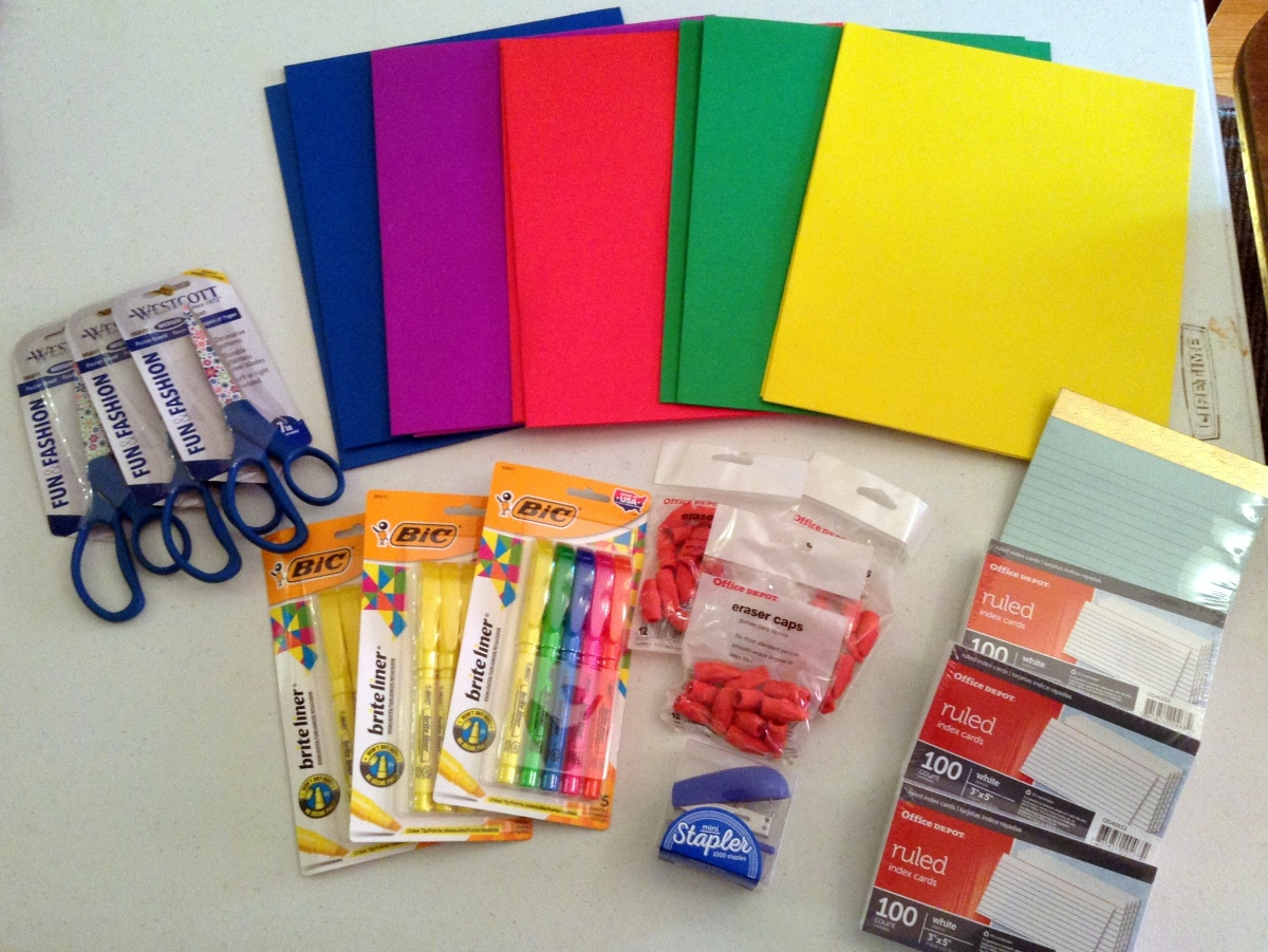It's time to shop for school supplies!