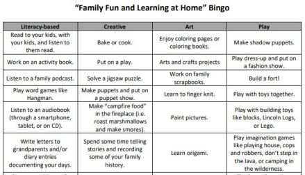 Family Fun Learning Bingo clip